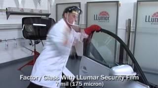 LLumar® Safety/Security Film - Smash & Grab Lab Test