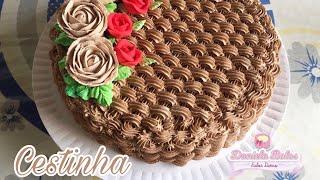Confeitando bolo: cestinha de flores c/ bico 20 mago