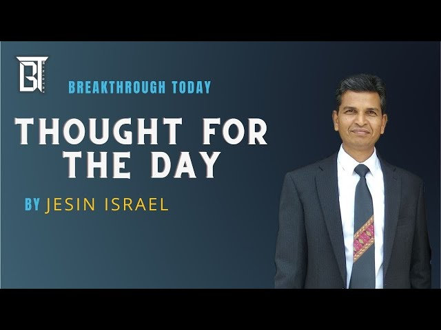 Thought for the day - Times & Communication - Jesin Israel