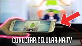 Como conectar celular smartphone Android na TV por cabo usb