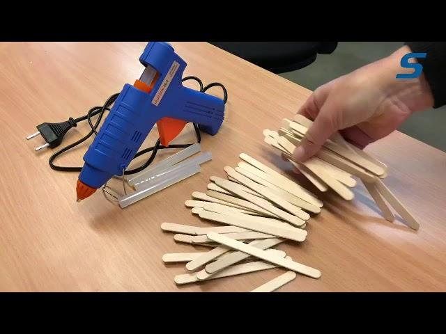 Sagitta - Bygg med glasspinnar och limpistol