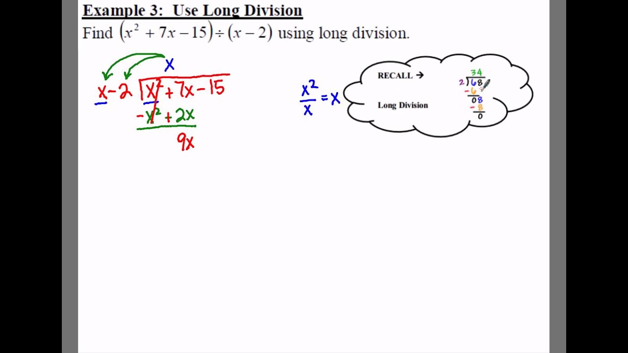 Notes - Polynomial Division