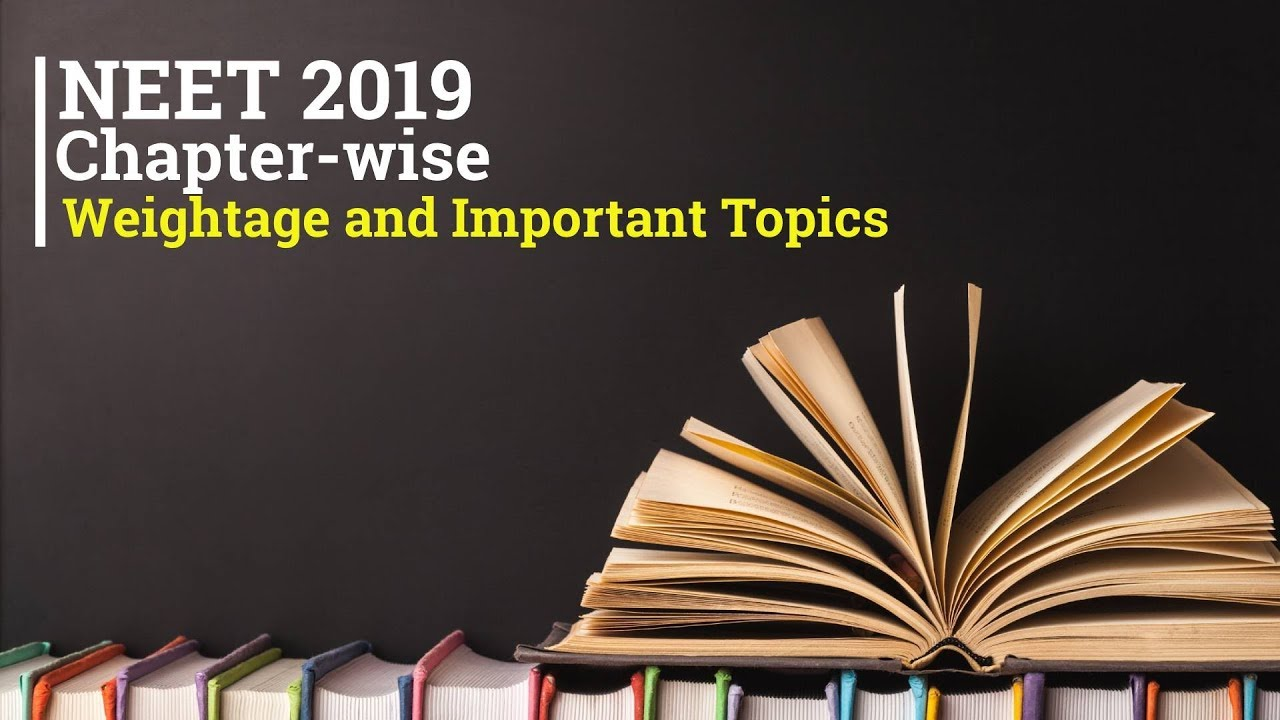 NEET 2020 Chapter Wise Weightage and Important Topics