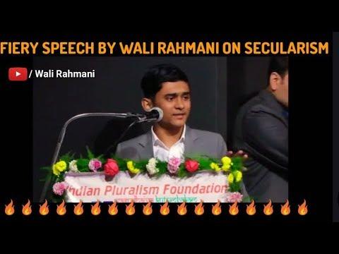 Fiery speech 🔥 by Wali Rahmani  on secularism