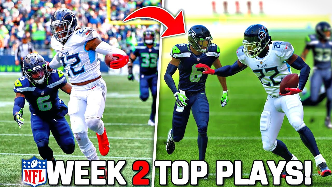 RECREATING THE TOP 10 PLAYS FROM NFL WEEK 2! Madden 22 Challenge