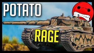 ► WoT Makes My Potato T28 RAGE 😡 - World of Tanks T28 Concept Gameplay