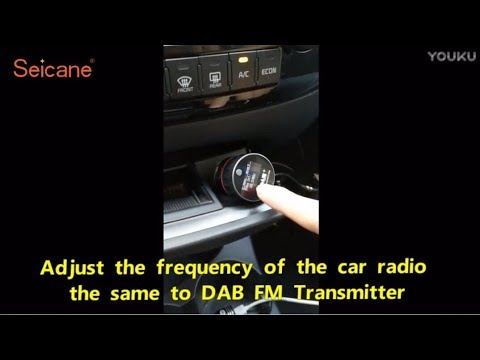 The Instructional Video of Universal Car Kit DAB+ Tuner FM Transmitter Radio Installation