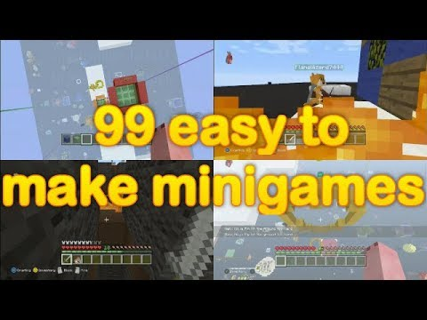 Minecraft - 99 Easy To Make Minigames (3 Easy To Make Minigames SUPER CUT) 99 Minigame Ideas!