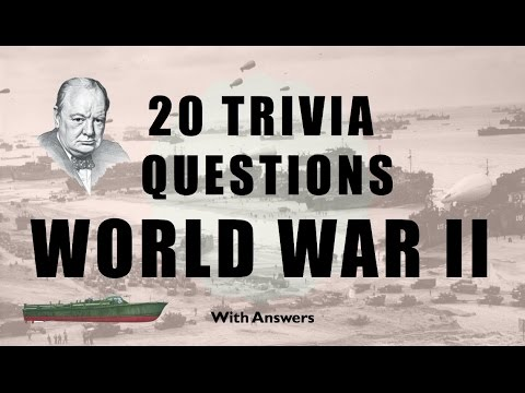 20 Trivia Questions (World War 2) No. 1