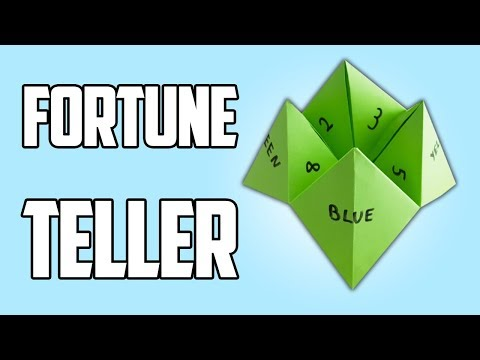 How To Make A Fortune Teller Paper Toy | Easy Origami For Kids
