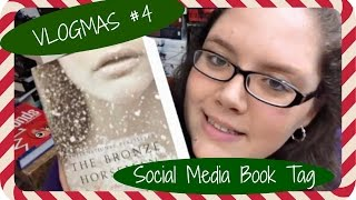 VLOGMAS #4 | Social Media Book Tag Thumbnail