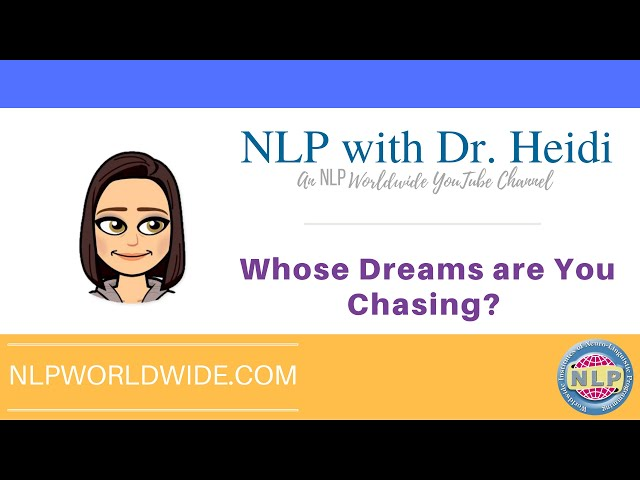 Whose Dreams are You Chasing?