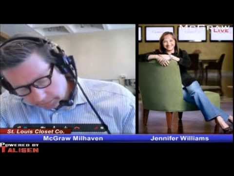 Jennifer Williams Of St Louis Closet Co Joins The McGraw Show