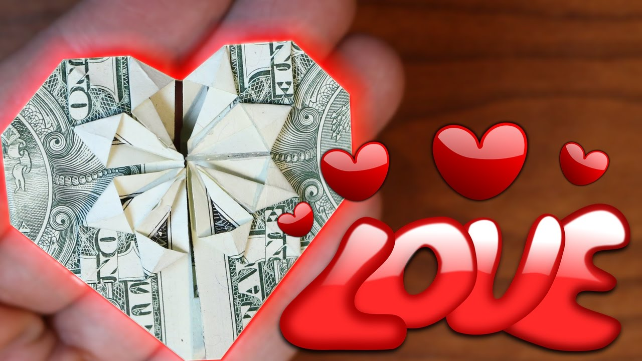 Tutorial how to make an origami heart out of a dollar bill youtube tutorial how to make an origami heart out of a dollar bill jeuxipadfo Images