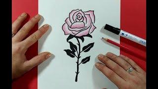 Como dibujar una rosa paso a paso 18 | How to draw a rose 18