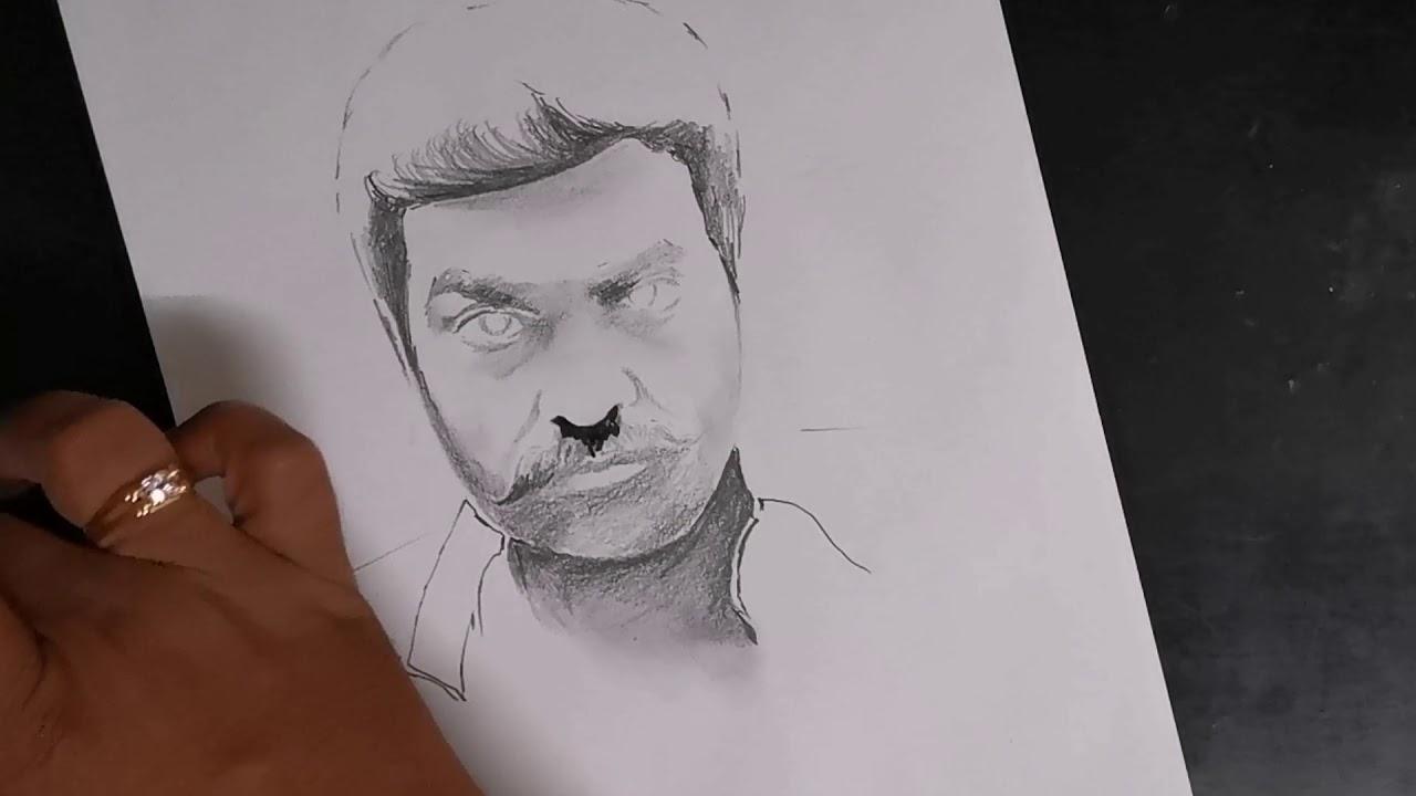 Makkal selvan | Vijay sethupati | pencil sketch | drawing ...