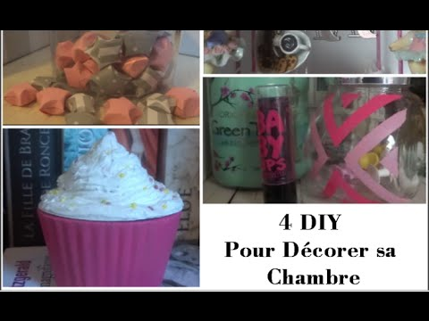 4 diy pour d corer sa chambre youtube. Black Bedroom Furniture Sets. Home Design Ideas