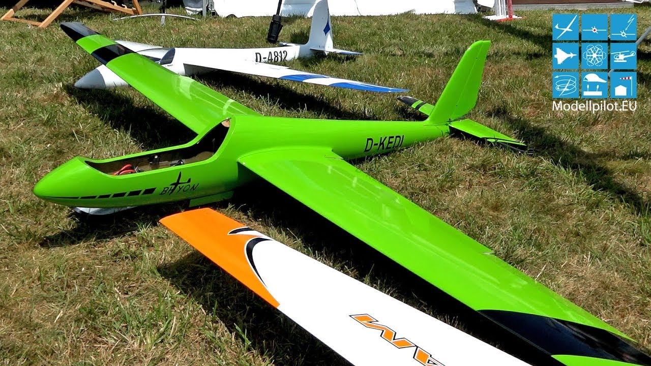 BHYON, SWIFT S1, STINGRAY X-MODELS by EDI'S MODELLBAUPARADIES RC GLIDER  AEROBATIC FLIGHT