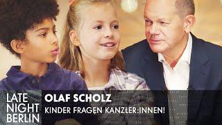 Olaf Scholz, ist Putin ein Mörder? | Kinder fragen Kanzler:innen | Late Night Berlin
