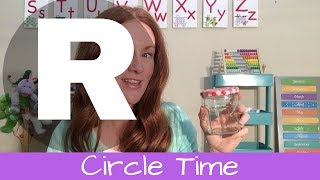 Cirlce Time Letter R