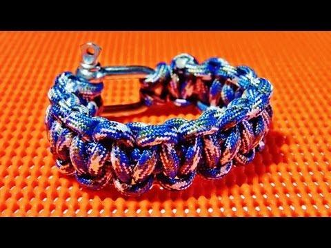 How to make / tie a Paracord bracelet with cobra stitch ( Tutorial Survival bracelet  )
