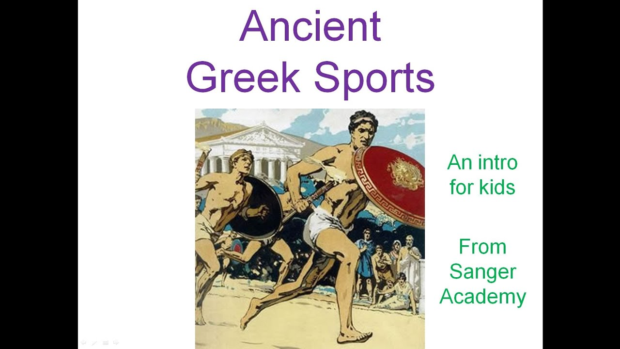 Ancient Greek Sports - an intro for kids - Sanger Academy - YouTube