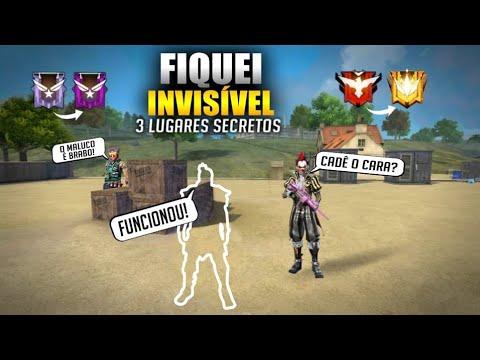 FIQUEI INVISÍVEL!! 3 LUGARES INÉDITOS FREE-FIRE