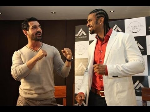 John Abraham teams up with British boxer David Haye for gym
