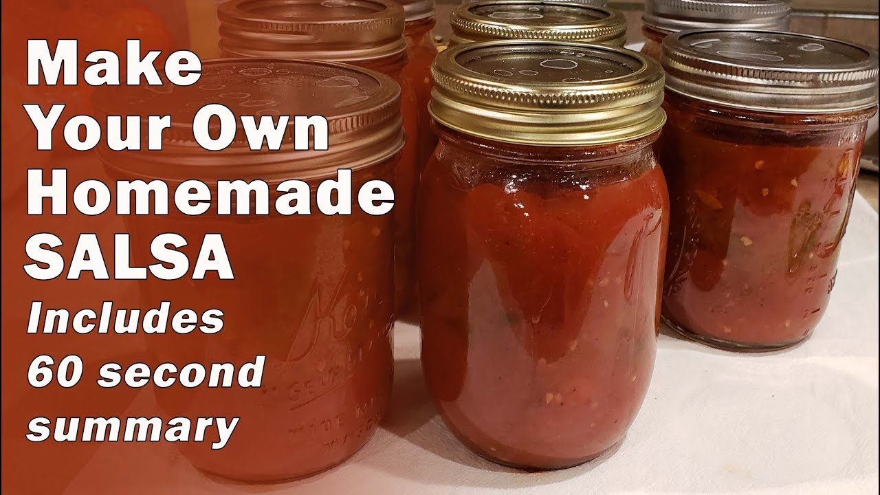 Making EASY Homemade Salsa - Includes 60 Second Summary, Recipe and Instructions on how to Can it Up