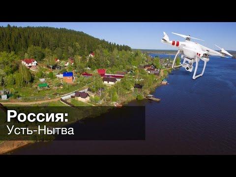 Усть-Нытва в Пермском Крае с дрона