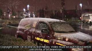 Roseville, CA: The City of Roseville Was Treated With a Rare Weather Event-- Snow 12 7 2009