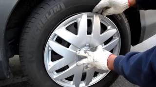 Wheel cover installation