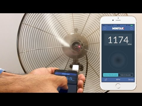 Laser Tachometer for iPhone to measure RPM