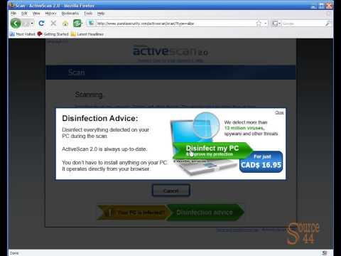Online virus scan with Panda Security