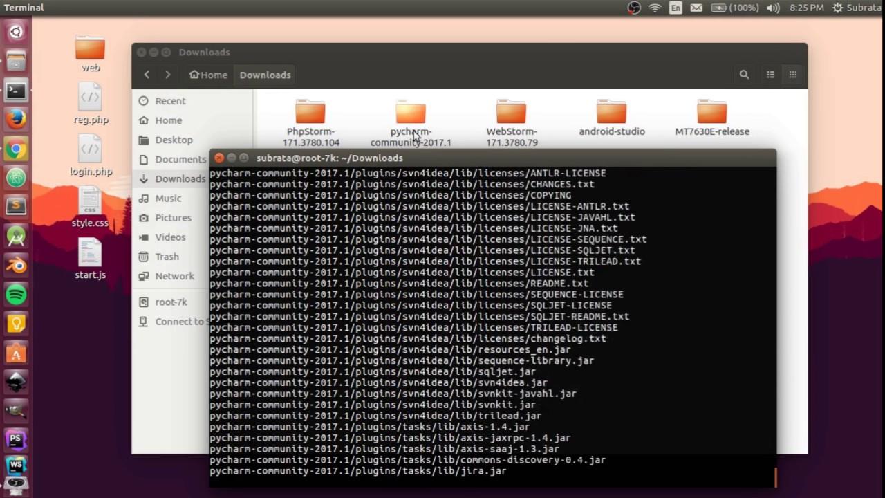 How to install pyCharm free community on ubuntu 16 04