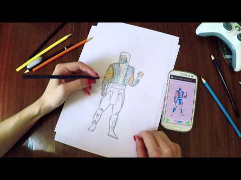 Как рисовать Мортал Комбат 2