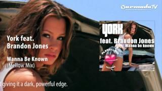 York feat. Brandon Jones - Wanna Be Known (Mellow Mix)