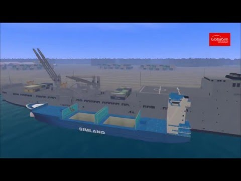 Ship Pedestal Crane Simulator by GlobalSim