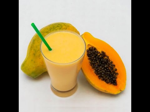 papaya milk shake recipe in hindi english