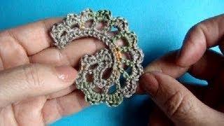Вязание крючком ирландского кружева Урок 306 Howto Crochet Irich lace leafe