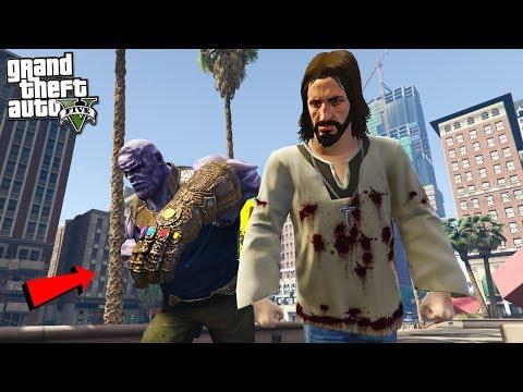 THE JESUS MOD vs THANOS - GTA 5 Mods