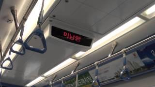 釜山都市鉄道4号線4000系 車内の様子