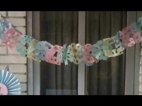 C mo hacer guirnaldas de papel youtube - Como hacer guirnaldas de navidad ...