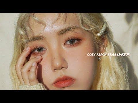 🍑포근포근 피치 베이지 메이크업 | #웜톤 #데일리메이크업 Cozy Peach Beige makeup