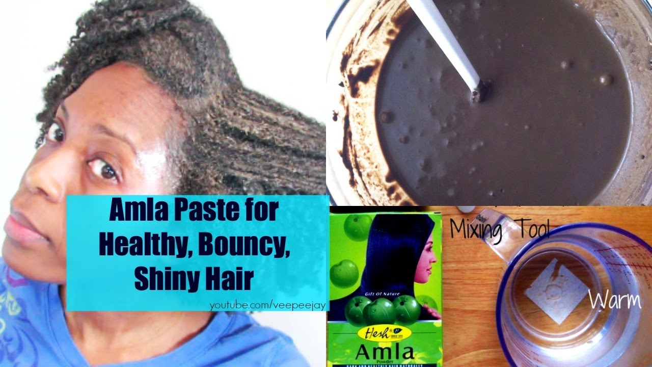 How To Do An AmlaKalpi Tone Paste On Natural Hair YouTube