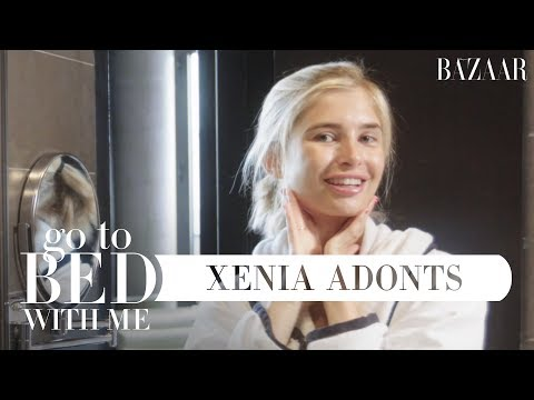 Xenia Adonts' Nighttime Skincare Routine  Go To Bed With Me  Harper's BAZAAR