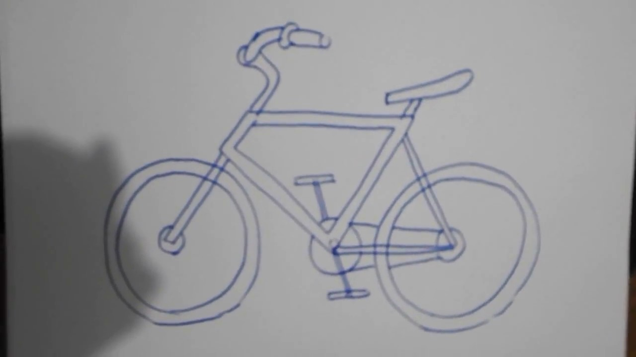 How To Draw A Bicycle Easily Bagaimana Cara Menggambar Sepeda Dengan Mudah Youtube