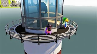 NUEVOS TRAJES Y MAPA - GANG BEASTS - WILLY VS FARGAN VS VEGETTA