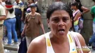 """""""El Pueblo Tiene Hambre"""" Gritaban en protesta de la cola del Bicentenario CC Palo Verde"""