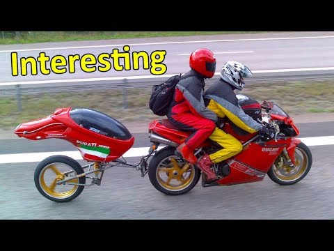 Motorcycles pulling trailers - YouTube